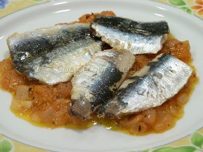 sardinas, picadillo, tomate