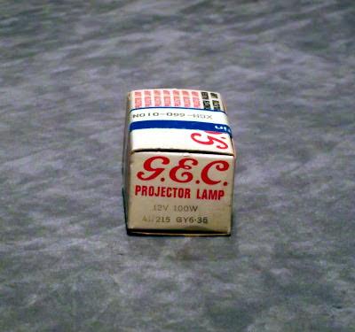 G.E.C. A1/215 12 Volt 100 Watt G.E.C. A1/215 12 Volt 100 Watt Projector Lamp