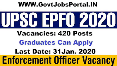 UPSC Enforcement Officer Vacancy 2020