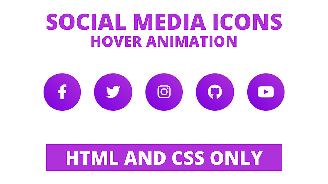 Awesome Hover Animation on Social Media Icons using HTML and CSS