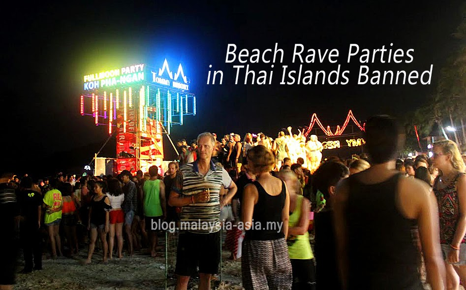 Ban on Beach Rave Parties in Thai Islands