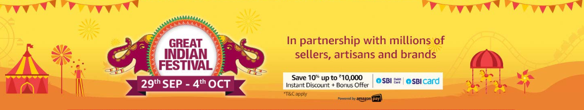 Amazon Great India Offer, Deals for Online Users