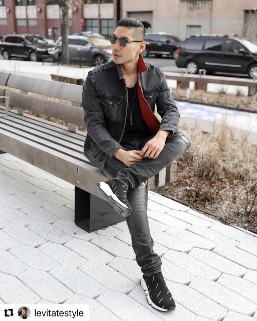 8 Valentine's Day Outfits for Men - Red Denim Jacket Levis