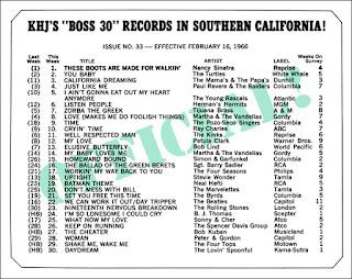 KHJ Boss 30 No. 33 - February 16, 1966