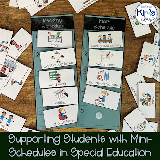 Visual supports & schedules in special education