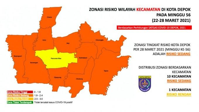 Kecamatan Pancoran Mas Masuk Zona Kuning