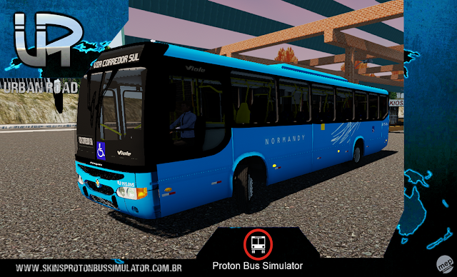 Skin Proton Bus Simulator - Viale MB OF-1722 Viação  Normandy