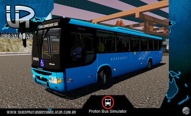 Skin Proton Bus Simulator - Viale MB OF-1722 Viação Normandy