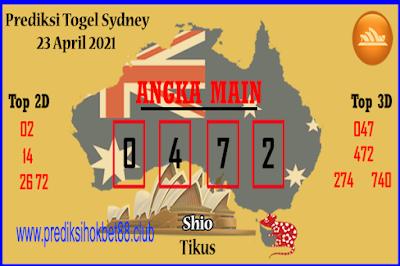 Bocoran Syair Sydney 23 April 2021