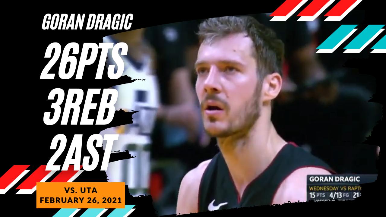 Goran Dragic 26pts vs UTA | February 26, 2021 | 2020-21 NBA Season