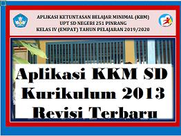 aplikasi kkm sd kurikulum 2013 kelas 1 sd 6 revisi 2020
