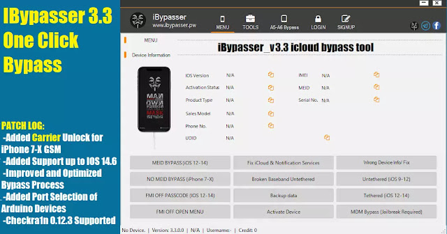 iBypasser v3.3 iCloud bypass tool
