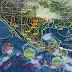 Para mañana se prevén tormentas muy fuertes con puntuales intensas en estados del oriente y sur del país, debido al paso de la onda tropical no. 7 y a una zona de inestabilidad en el oriente de México.