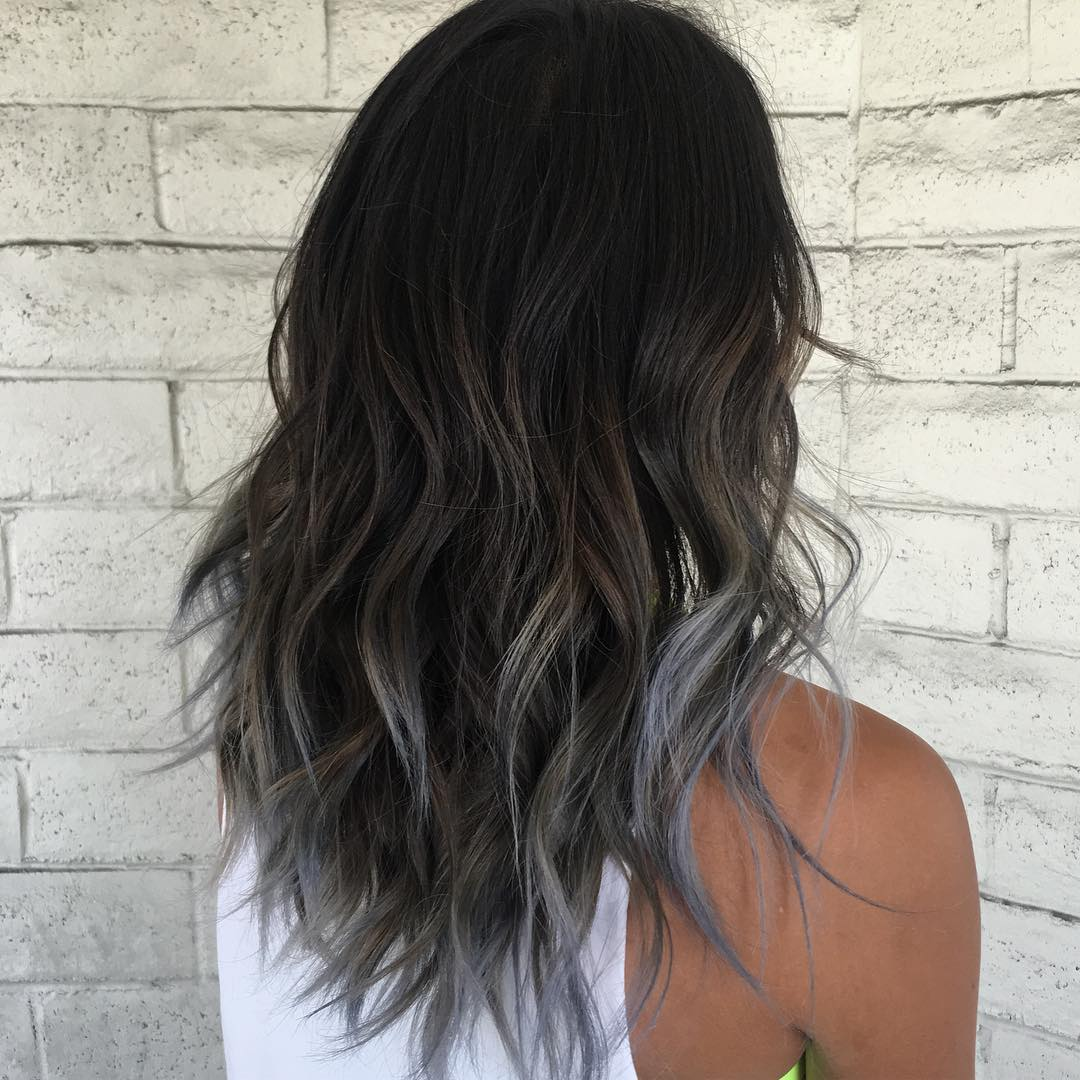 Hair Dye To Try This Fall Smoky Gray Ombre Hair