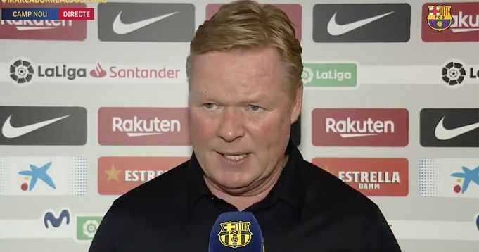 Barca Boss Koeman names player he's unlikely to count on this season