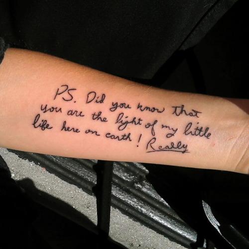 Tattoo Quotes Handwritten: Women Fashion And Lifestyles