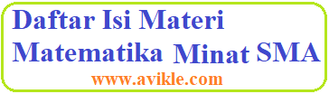 Daftar Isi Materi Matematika Peminatan SMA
