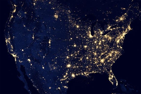 Illuminazione Notturna Stati Uniti