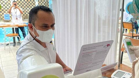 BPC HIPMI Kota Padang dan Wardah Adakan Vaksinasi Covid-19