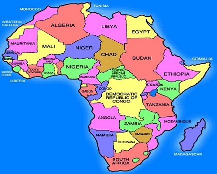 Map Of Africa With Countries And Capitals.B L A C K B U L B L I S T List Of African Countries And Capitals