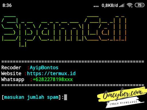 Spam Telepon Termux Terbaru