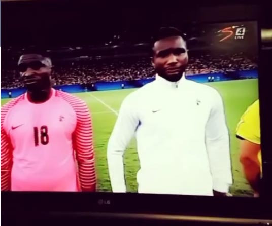 Team Nigeria looks stunned as wrong National Anthem is played for them at Olympics