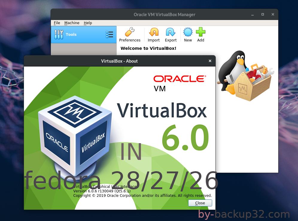 شرح تنصيب 6 0 vm virtualbox على فيدورا 29