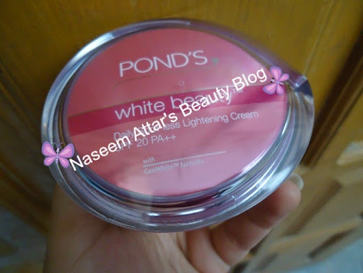 Pond's white beauty Daily spot-less lightening cream review ~ Naseem Attar's Beauty Blog