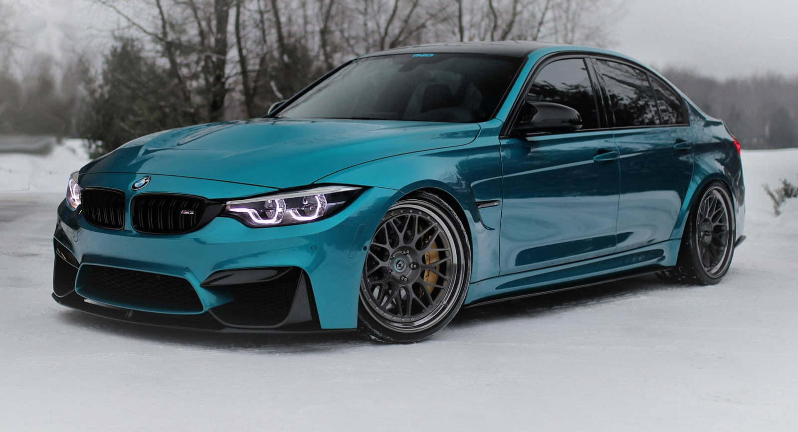 Bmw M3 With Subtle Mods Shines In Atlantis Blue Paintjob