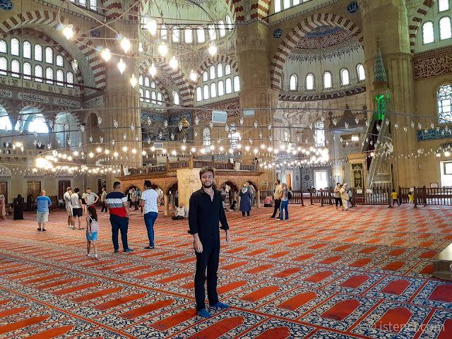 Harun İstenci'nin Edirne Selimiye Camisi ziyareti.