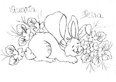 semaninha de coelhos e flores quarta feira