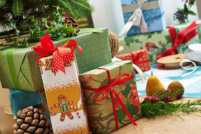 Christmas giftwrap designs by Jane Crick