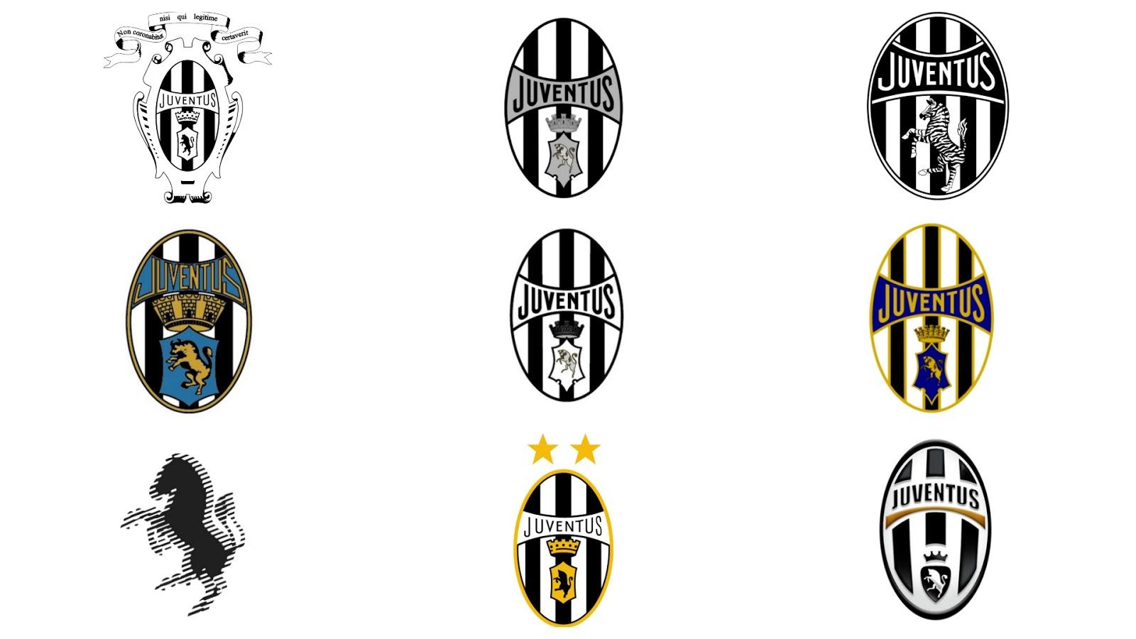 Evolução do Escudo da Juventus de Turim