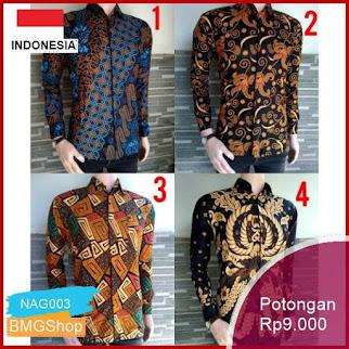 NAG003 Batik Hrb026 Kenongo Hem Pendek Padi Murah Bmgshop