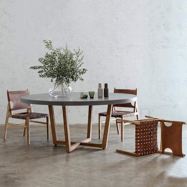 4 seater round dining set