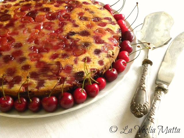 cake con ciliegie e buttermilk