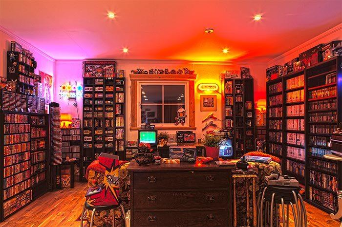 nostalji oyun konsolları ile oyun odası dekorasyonu