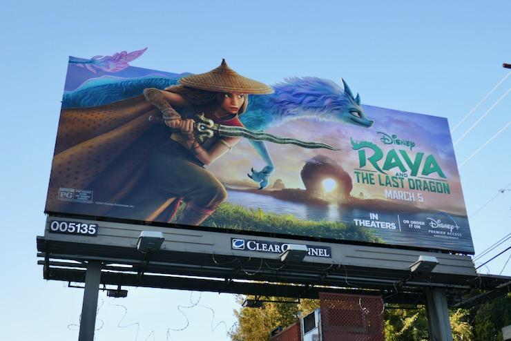Raya and the Last Dragon extension billboard