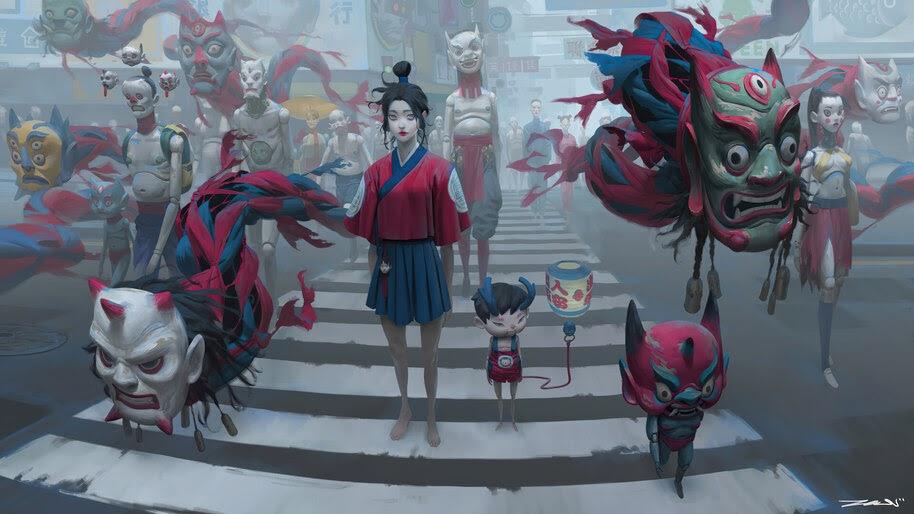Japanese, Demon, Yokai, Oni, Anime, 4K, #6.2618