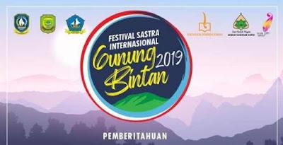 Festival Sastra Internasional Gunung Bintan 2019