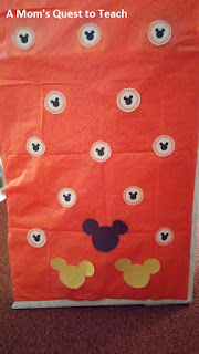 Mickey Mouse Punch Board with candy
