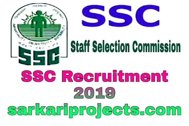 SSC Recruitment 2019,Apply Here SSC Recruitment Stenographer Post