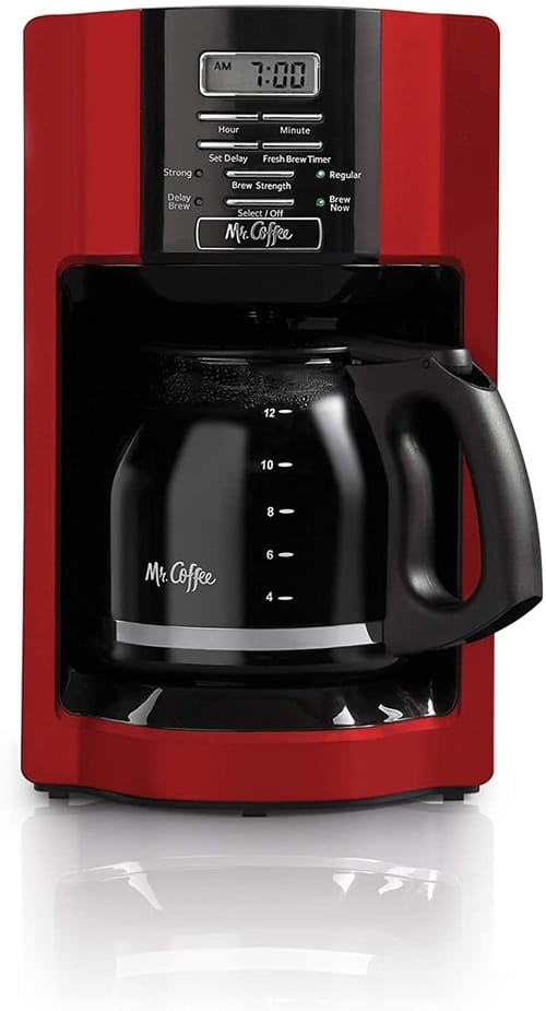 HLN Drip Coffee Maker Red 12 Cup Automatic Freshness
