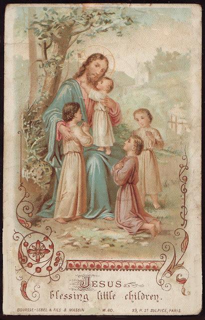 Holy Cards For Children Jesus Blessing Children