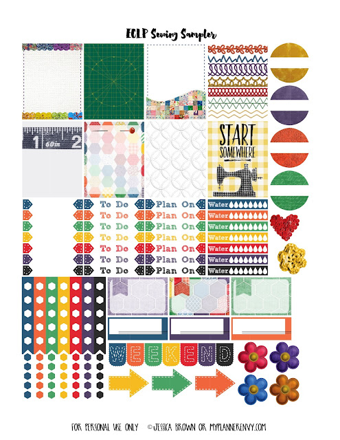 Free Printable Sewing Sampler for the Vertical Erin Condren Life Planner on www.myplannerenvy.com
