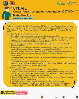Press Release COVID-19 Tarakan 19 April 2020 - Tarakan Info