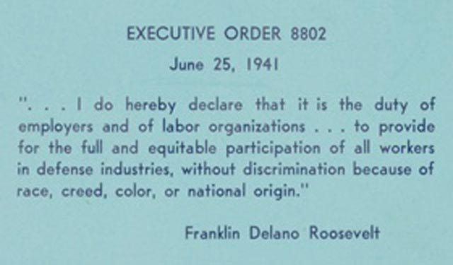 FDR Executive Order 8802 dated 25 June 1941 worldwartwo.filminspector.com