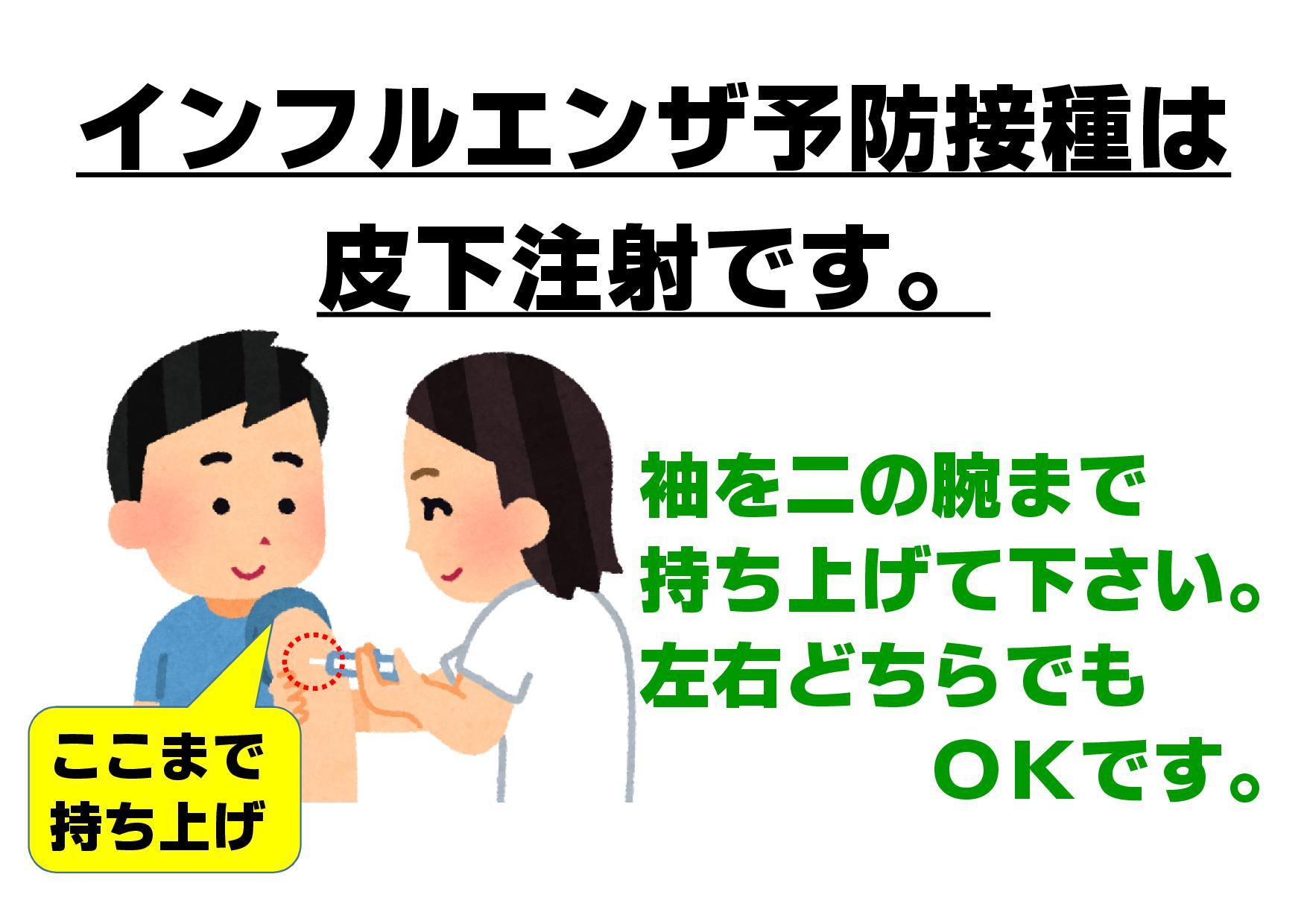 予防 皮下 インフルエンザ 注射 接種