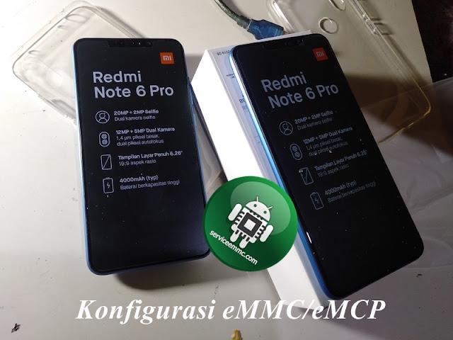 Log Info Konfigurasi ic eMMC/eMCP Redmi Note 6 PRO(tULIP)