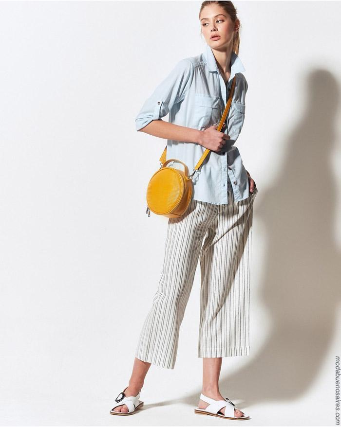 Camisas y pantaloens primavera verano 2020 moda ropa de mujer.
